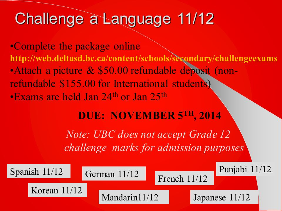 Challenge a Language 11/12 Complete the package online