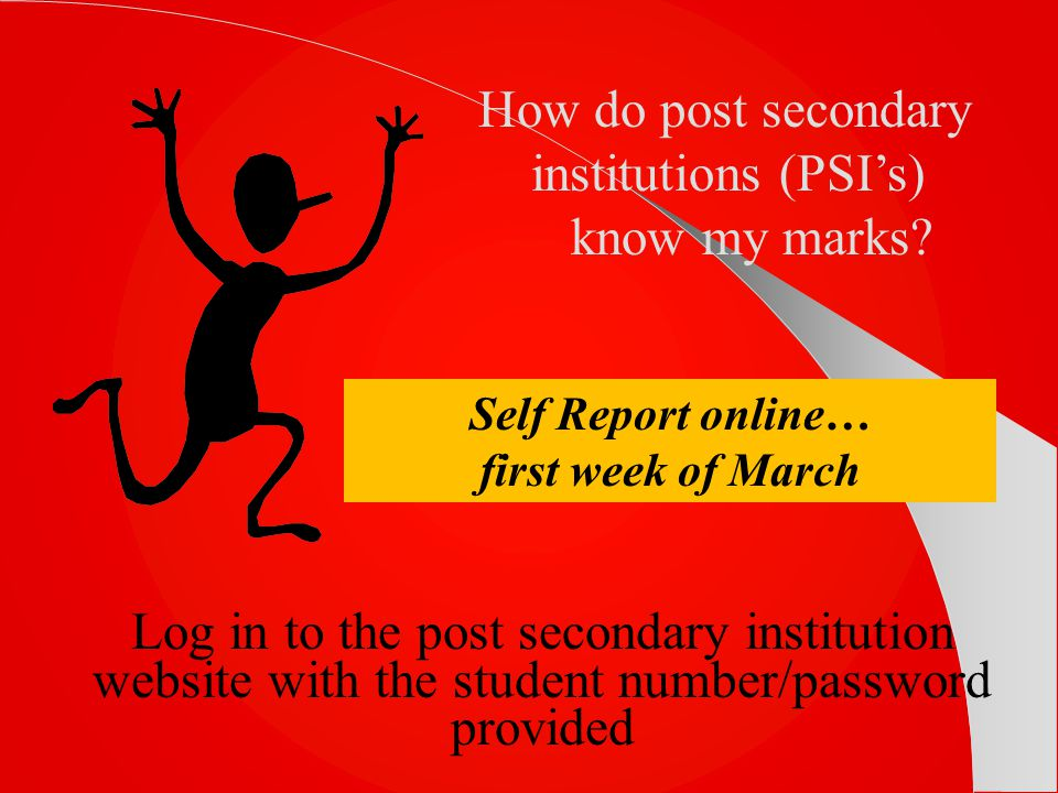 Self Report online… first week of March