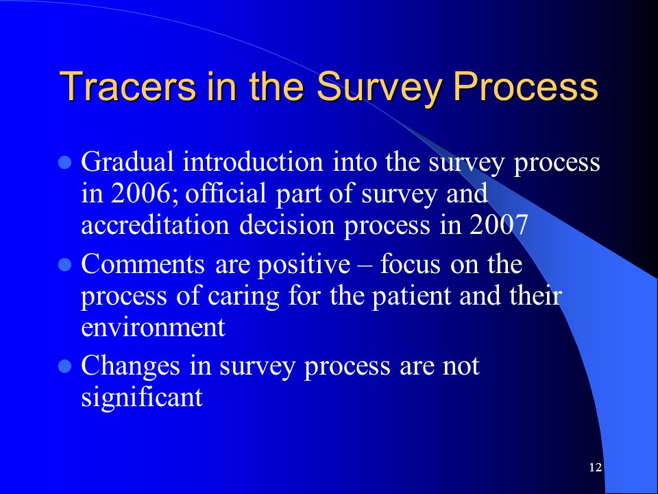 Tracers in the Survey Process