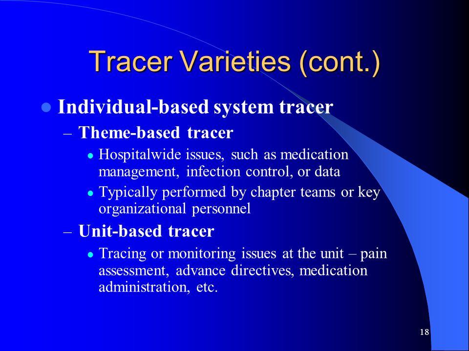 Tracer Varieties (cont.)