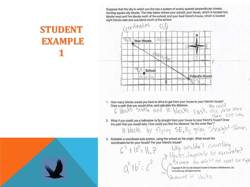 STUDENT EXAMPLE 1
