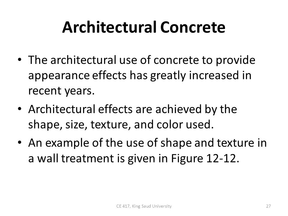 Architectural Concrete