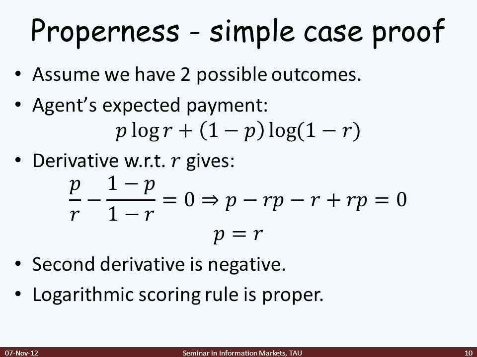 Properness - simple case proof