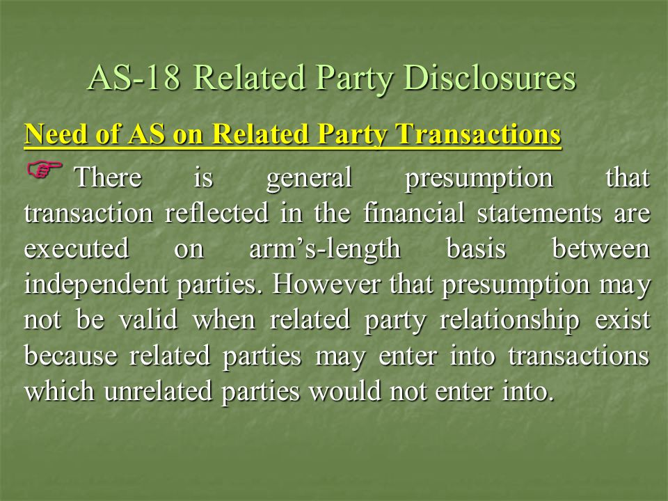 AS-18 Related Party Disclosures