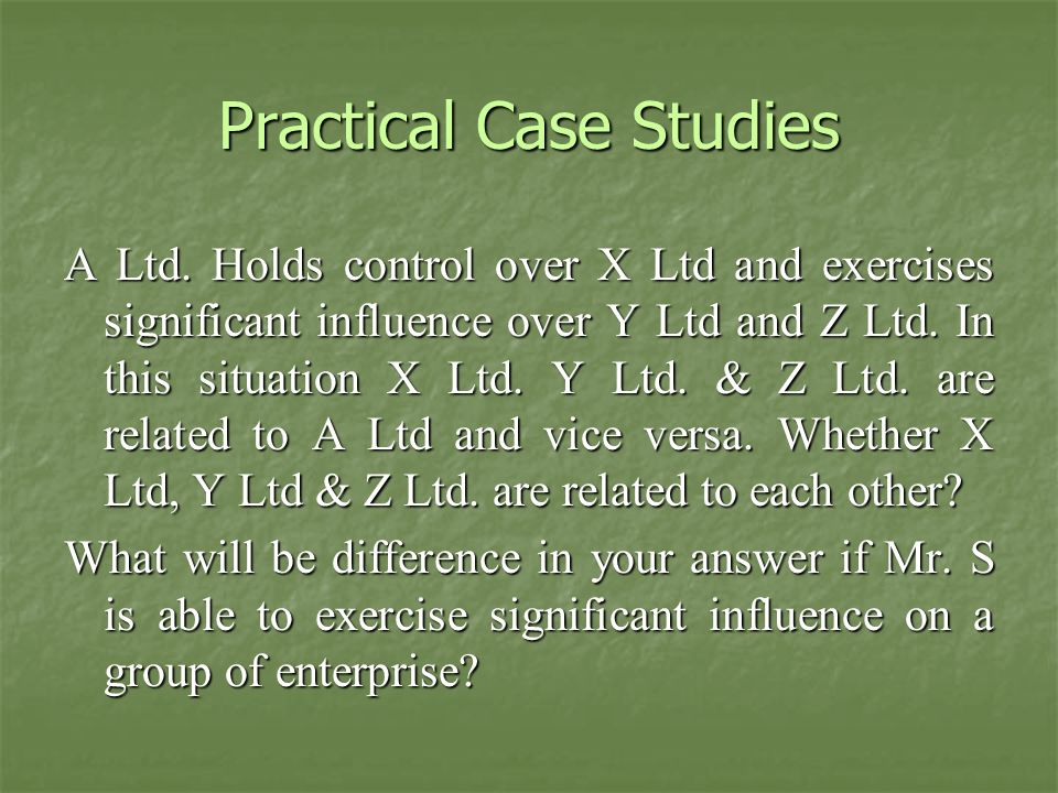 Practical Case Studies