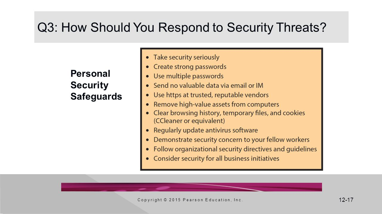 Q3: How Should You Respond to Security Threats