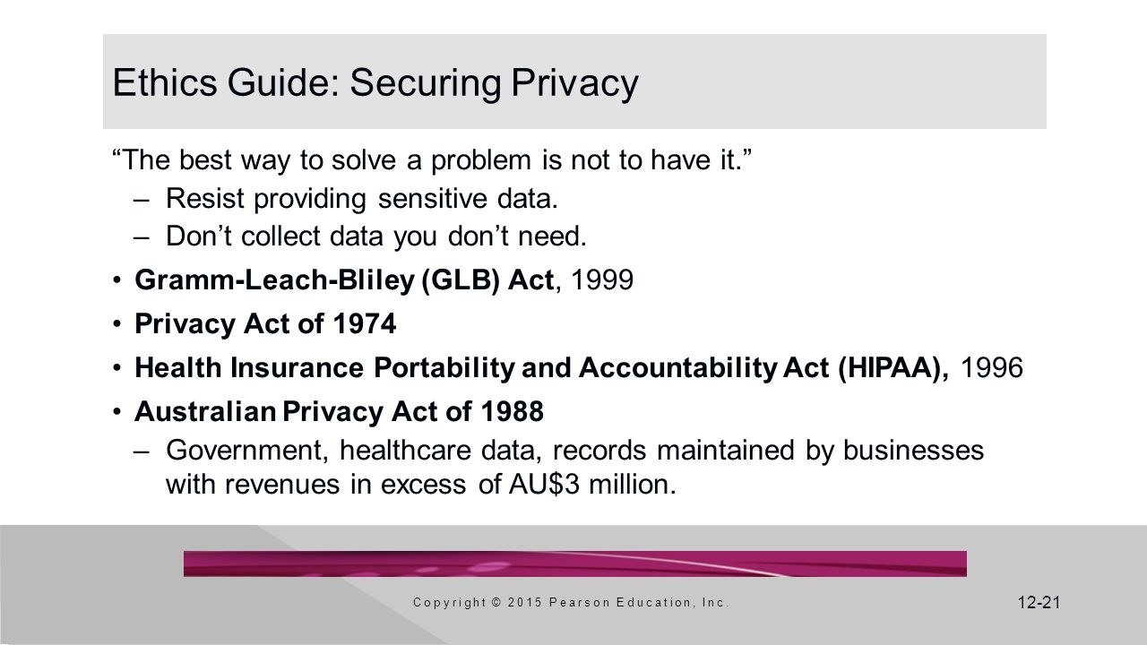 Ethics Guide: Securing Privacy