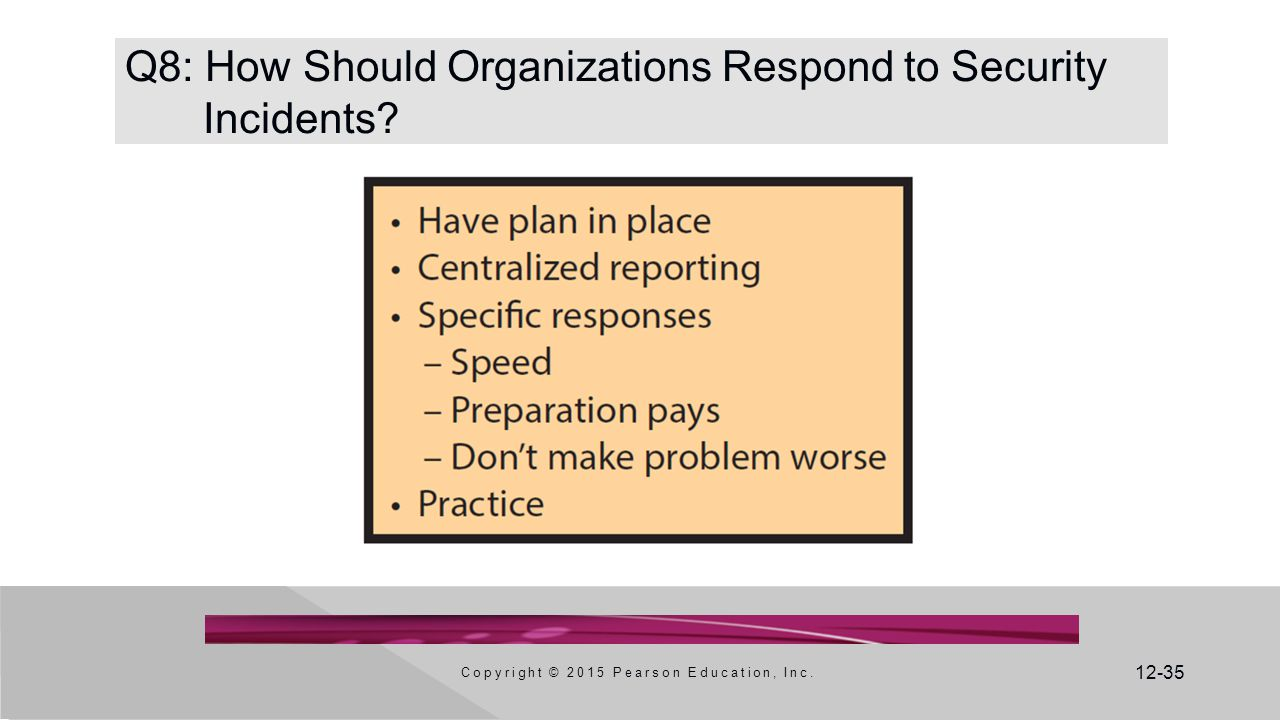 Q8: How Should Organizations Respond to Security Incidents