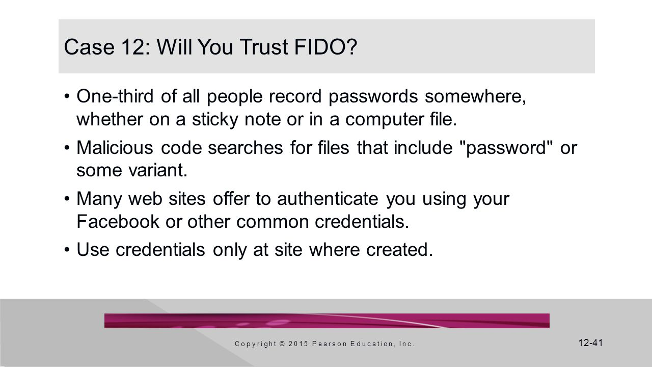 Case 12: Will You Trust FIDO