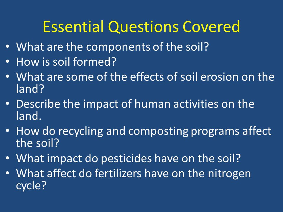 Essential Questions Covered