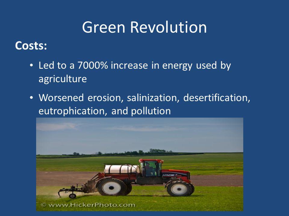 Green Revolution Costs: