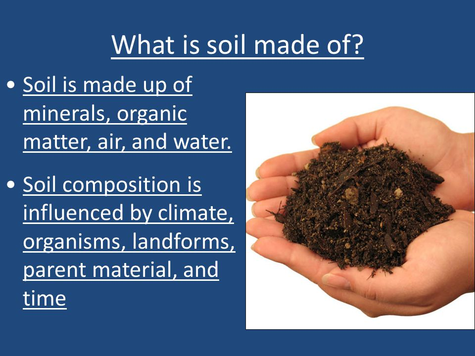 Chapter 12 soil and agriculture ppt video online download for What 5 materials make up soil