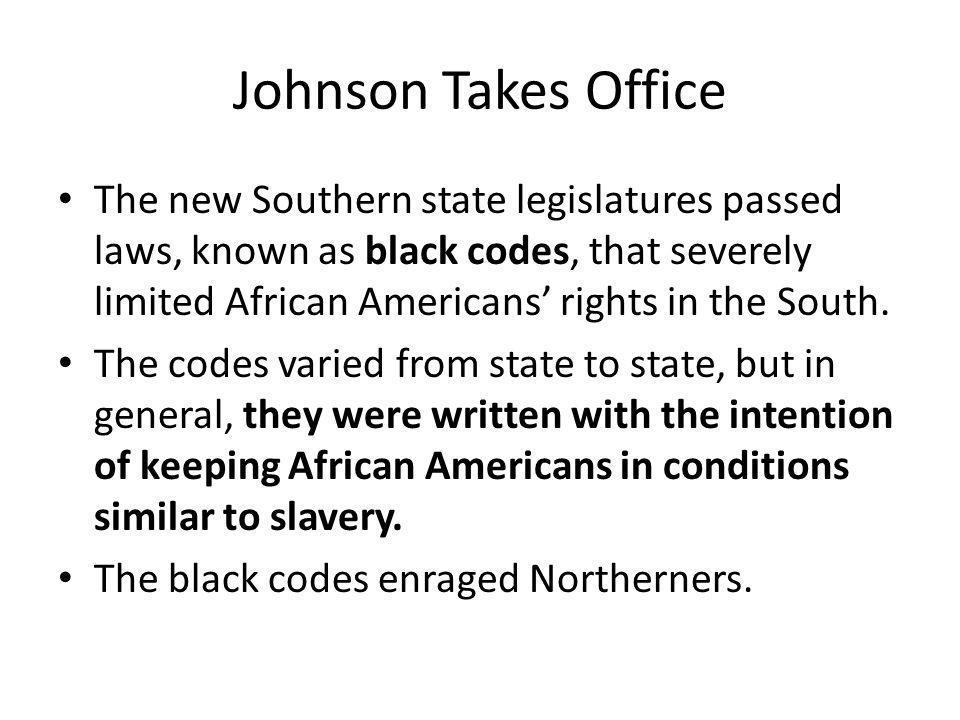 Johnson Takes Office