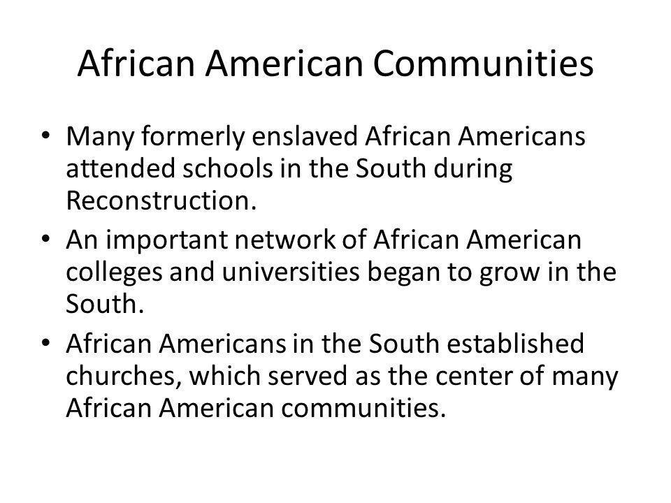 African American Communities