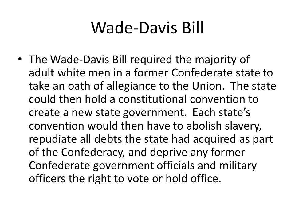 Wade-Davis Bill