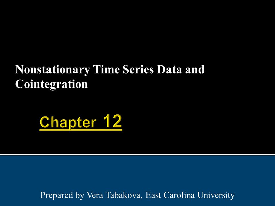 Nonstationary Time Series Data and Cointegration