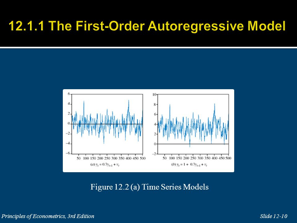 12.1.1 The First-Order Autoregressive Model