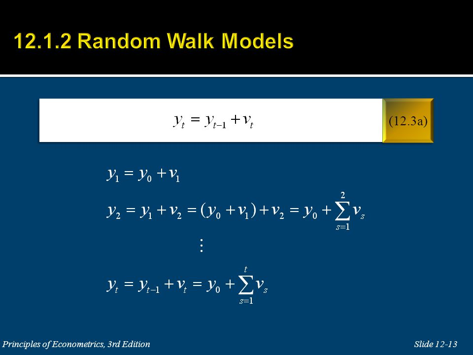 12.1.2 Random Walk Models (12.3a) Principles of Econometrics, 3rd Edition