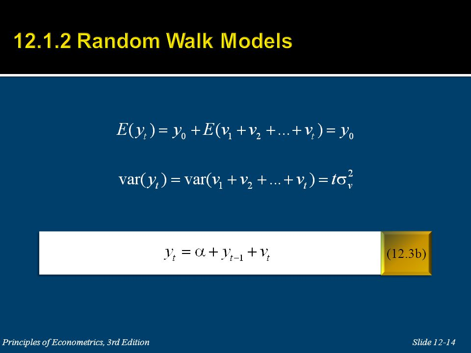 12.1.2 Random Walk Models (12.3b) Principles of Econometrics, 3rd Edition