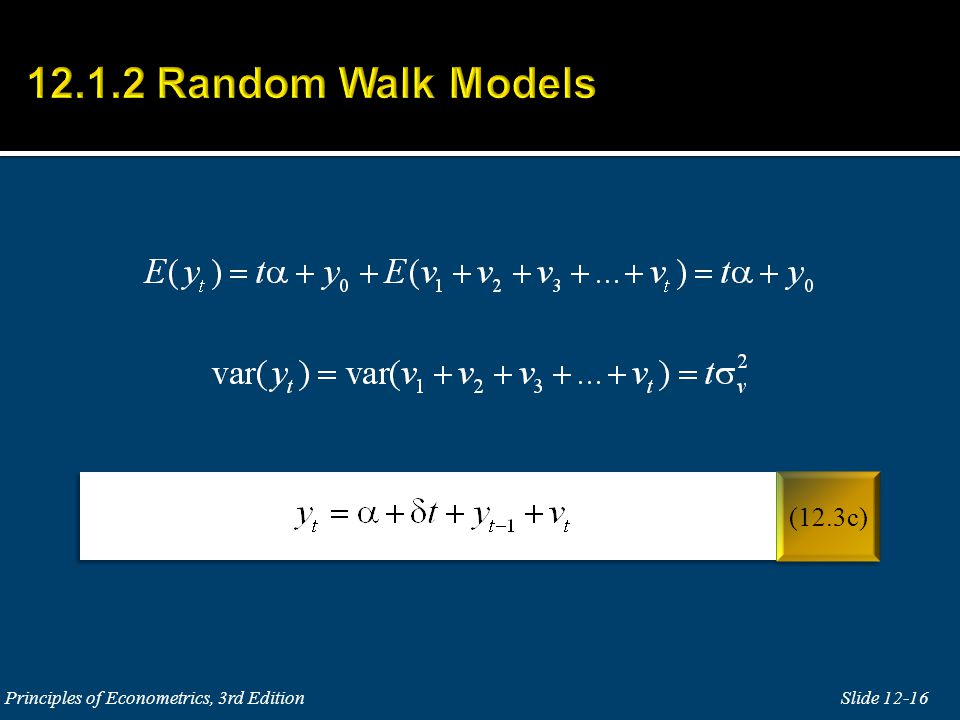 12.1.2 Random Walk Models (12.3c) Principles of Econometrics, 3rd Edition