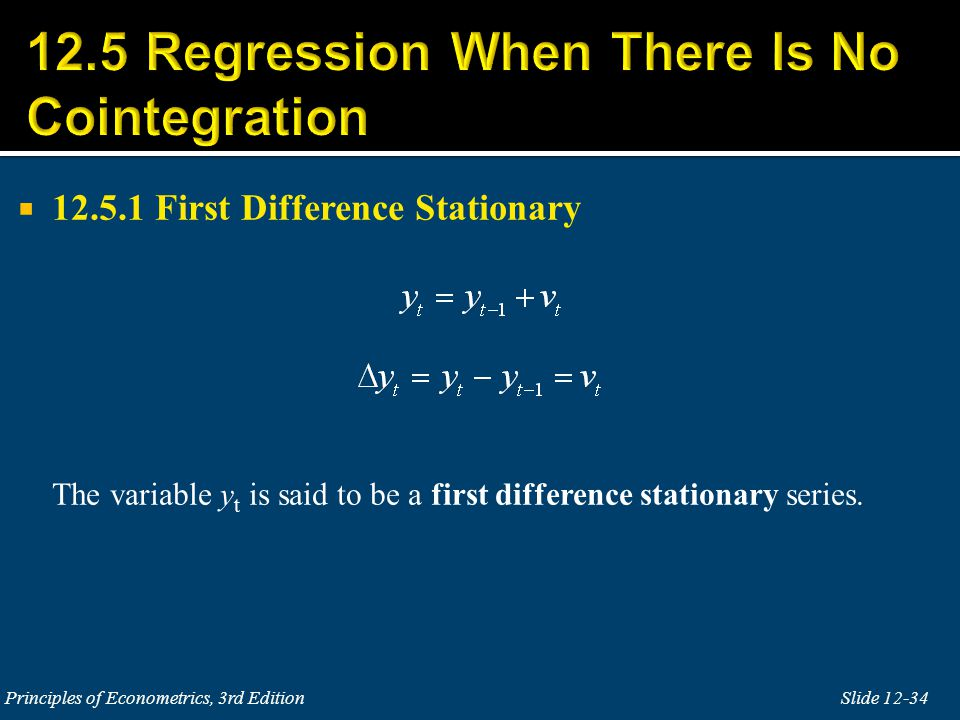 12.5 Regression When There Is No Cointegration