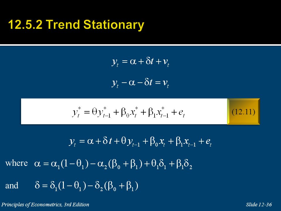 12.5.2 Trend Stationary where and (12.11)