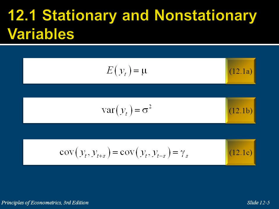 12.1 Stationary and Nonstationary Variables