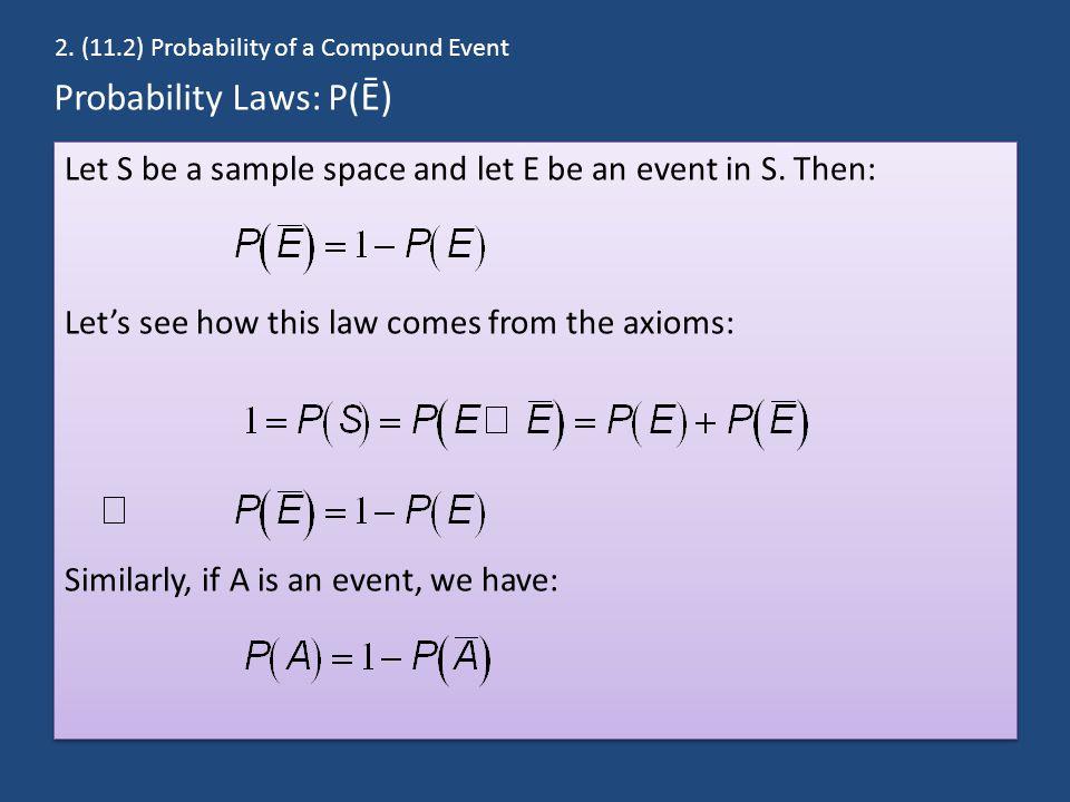 Probability Laws: P(Ē)