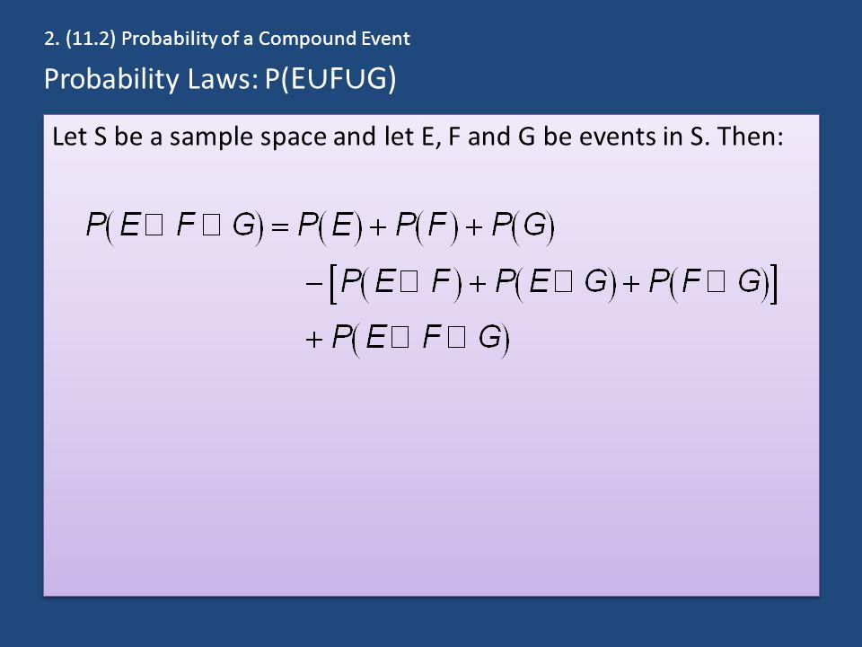 Probability Laws: P(E∪F∪G)