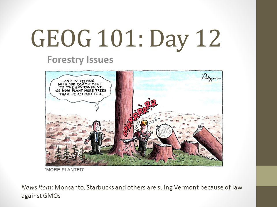 GEOG 101: Day 12 Forestry Issues