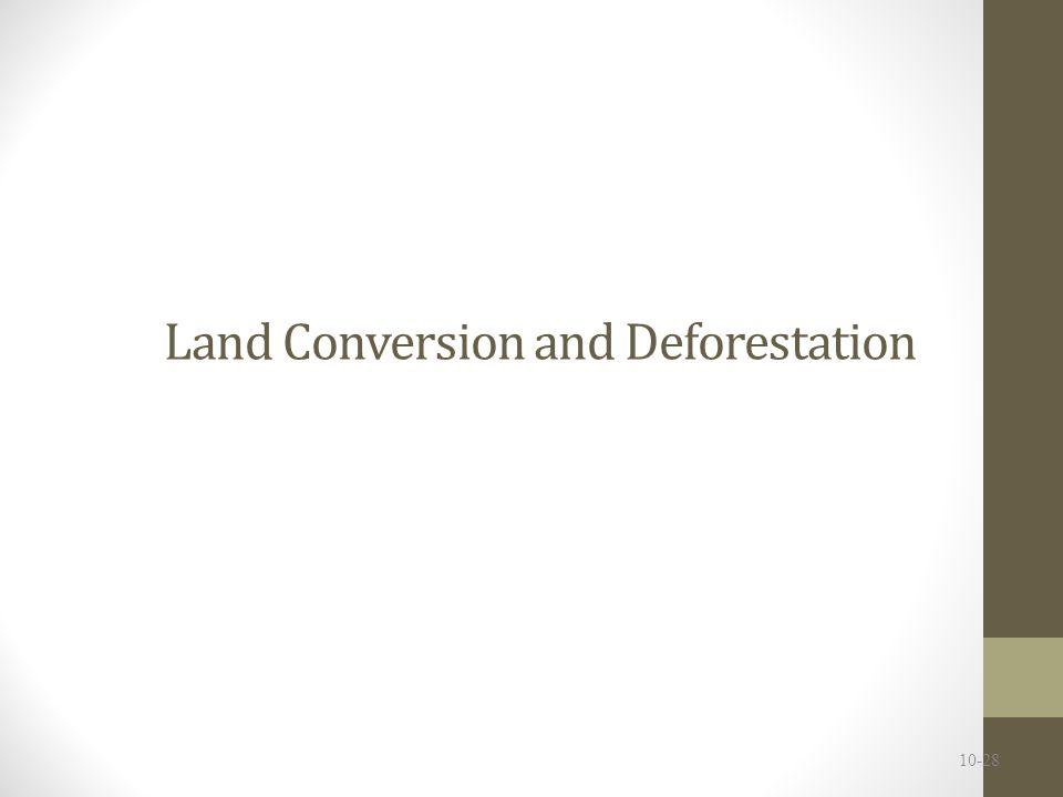 Land Conversion and Deforestation