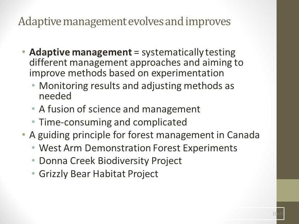 Adaptive management evolves and improves