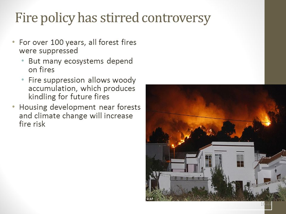 Fire policy has stirred controversy