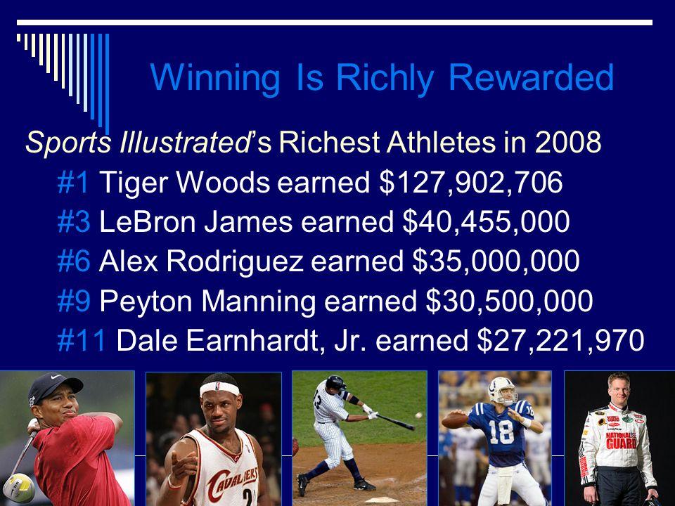 Winning Is Richly Rewarded