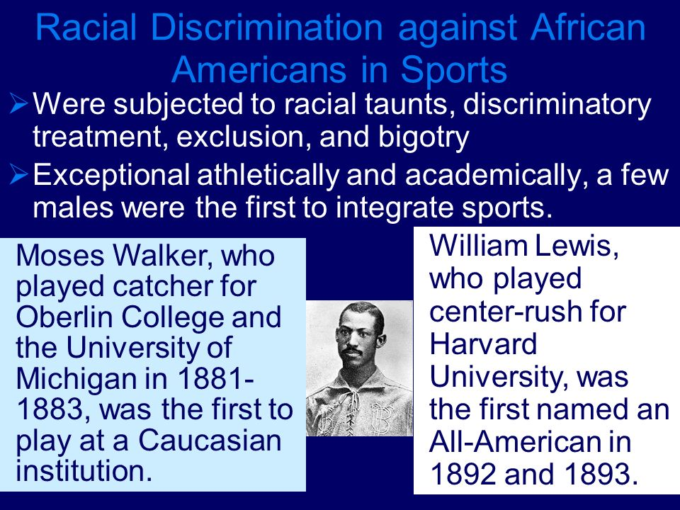 Racial Discrimination against African Americans in Sports