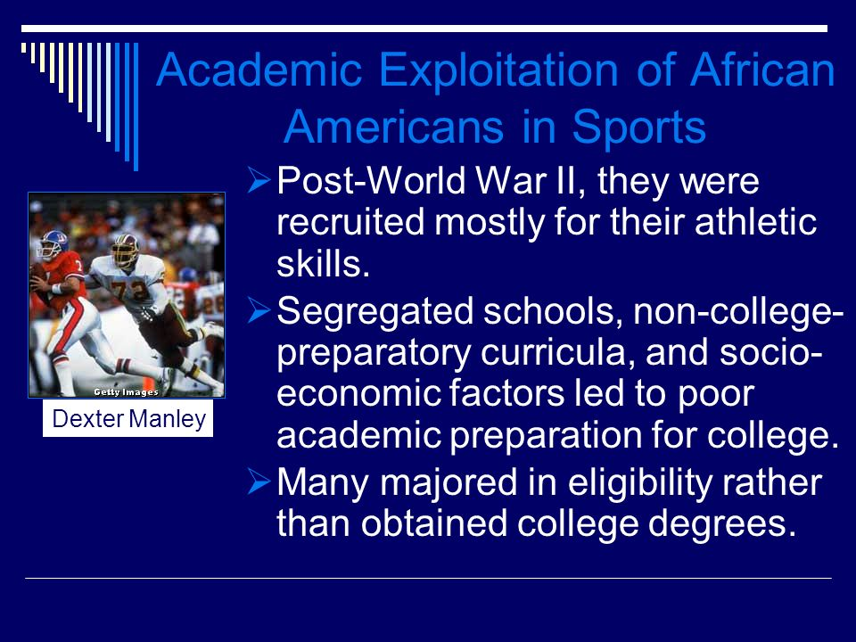 Academic Exploitation of African Americans in Sports