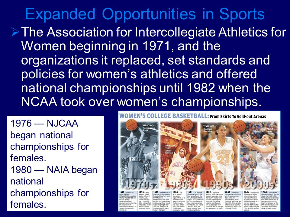 Expanded Opportunities in Sports