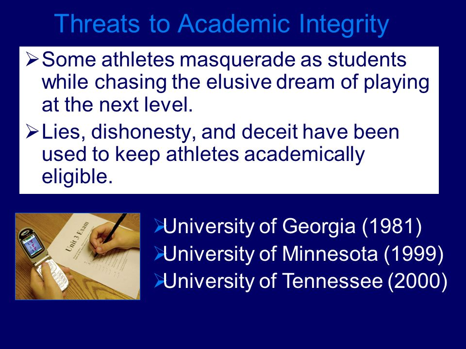Threats to Academic Integrity