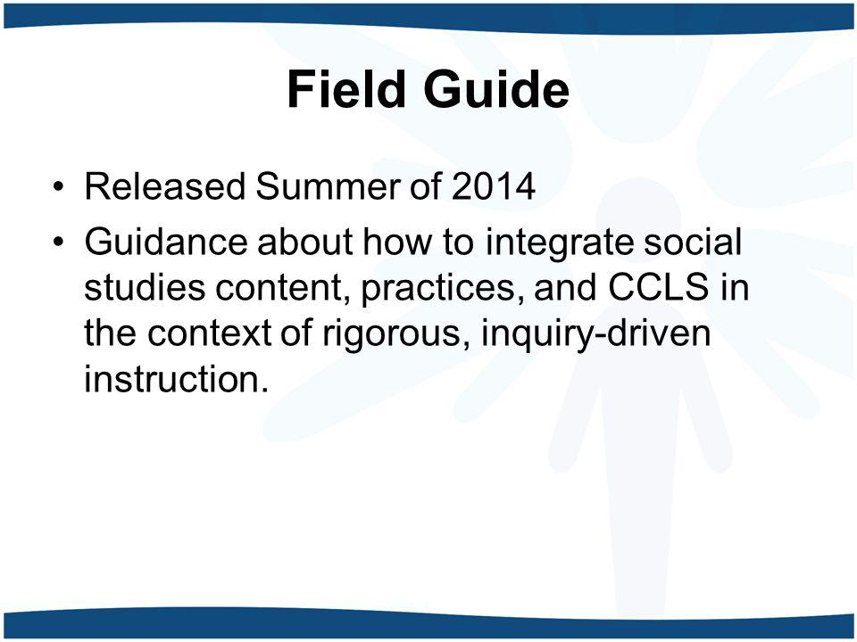 Field Guide Released Summer of 2014
