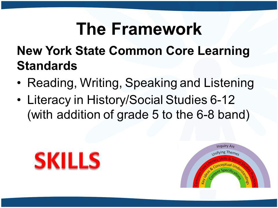 The Framework New York State Common Core Learning Standards
