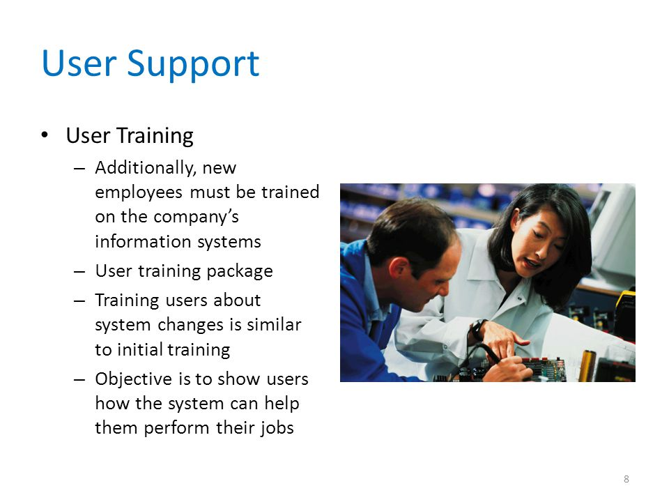 User Support User Training