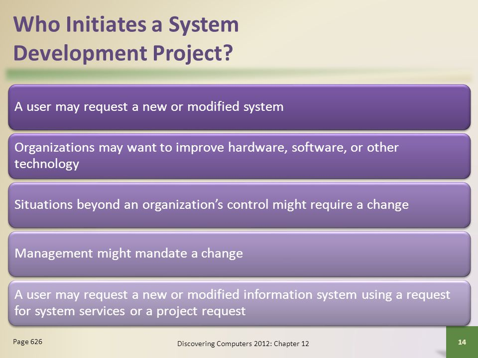 Who Initiates a System Development Project
