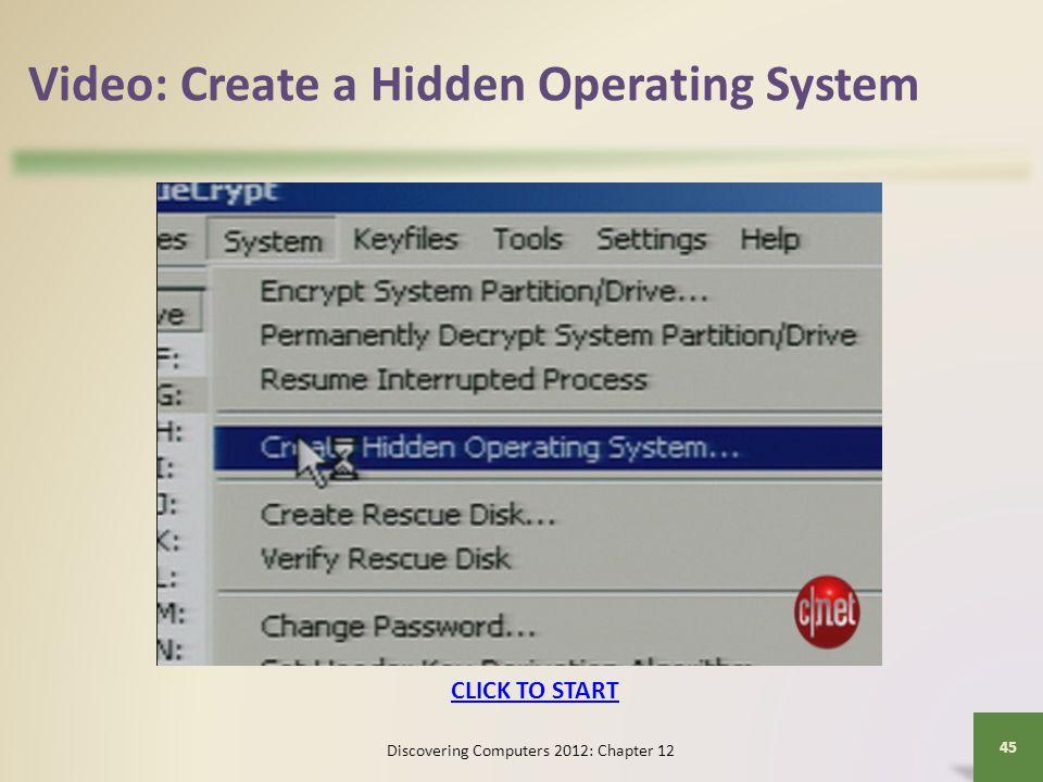 Video: Create a Hidden Operating System