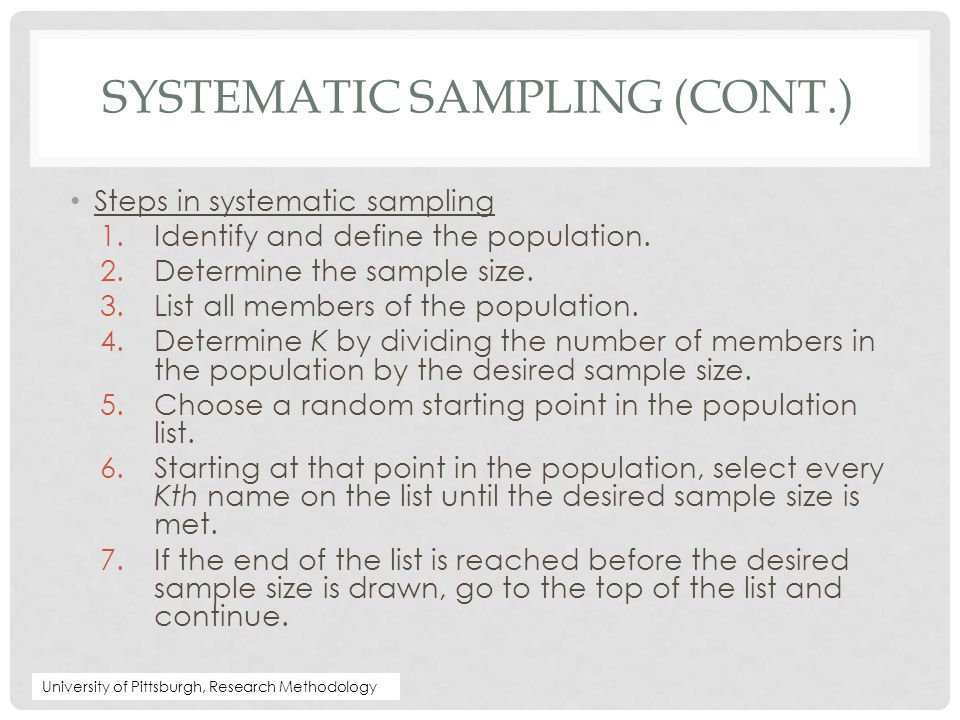 Systematic Sampling (cont.)