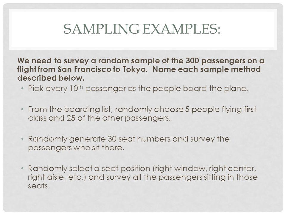 Sampling Examples: