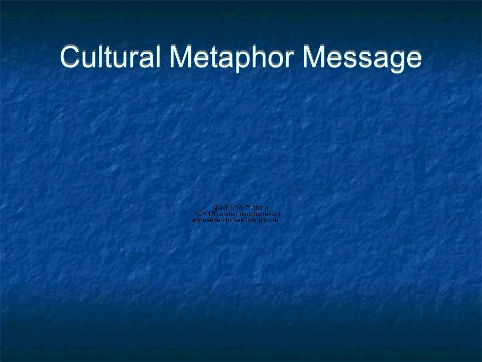 Cultural Metaphor Message