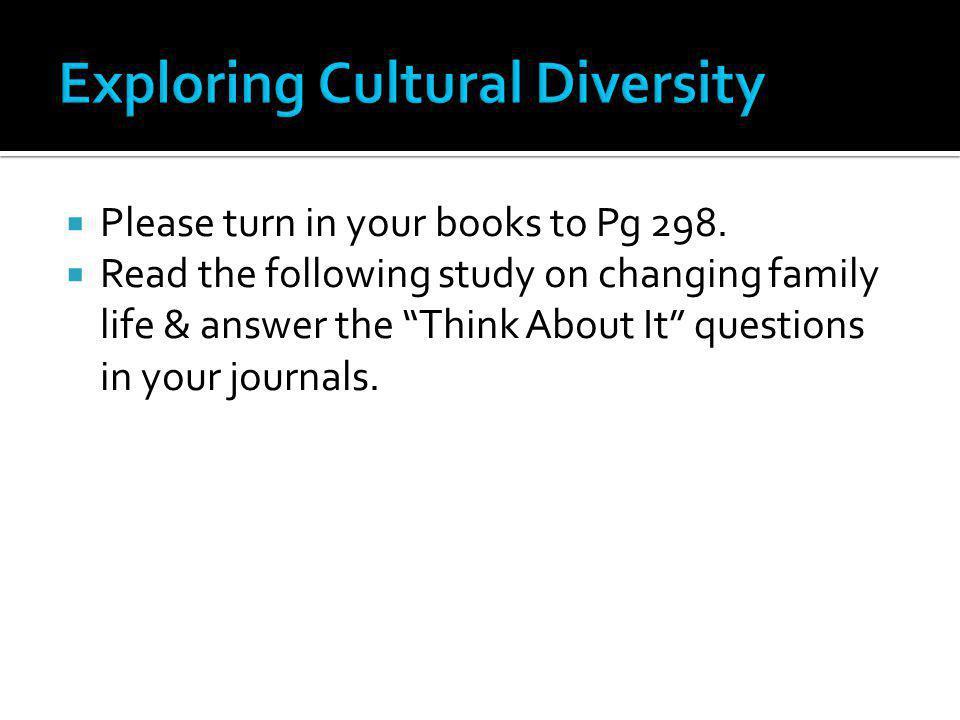 Exploring Cultural Diversity