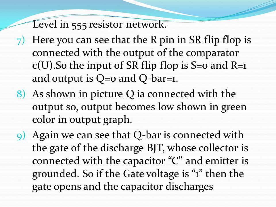 Level in 555 resistor network.