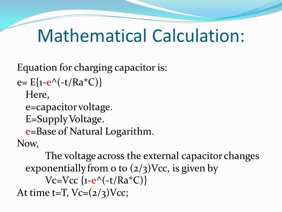 Mathematical Calculation: