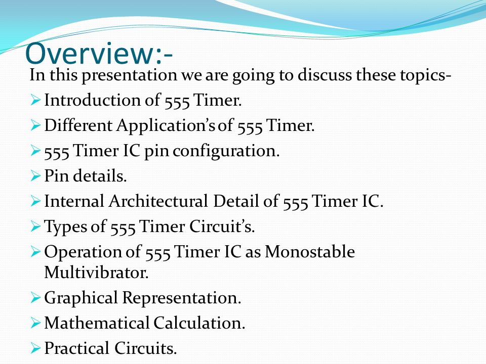 Overview:- In this presentation we are going to discuss these topics-